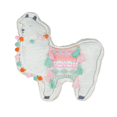 "16""x16"" La La Llama Throw Pillow - Waverly Kids"