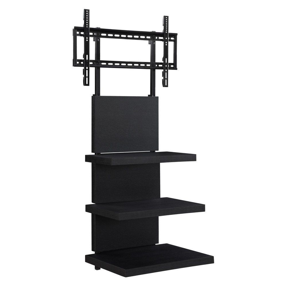 Altitude TV Stand with Mount for TVs 60 wide - Black - Room & Joy, Black Oak