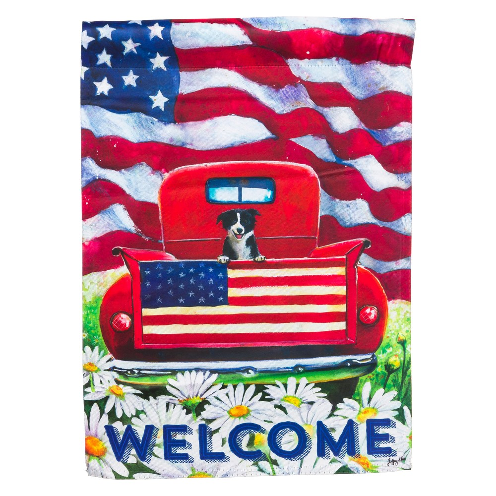 Image of 0.01 H Polyester Flag - Evergreen, Multi-Colored