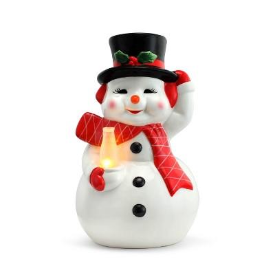 "Mr. Christmas Nostalgic Snowman LED Ceramic Figure Christmas Decoration - 12"""