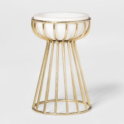 Gold and Marble Pillar Candle Holder Short - Project 62™