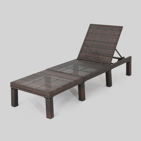 Jamaica Wicker Patio Chaise Lounge - Brown - Christopher Knight Home - image 1 of 5