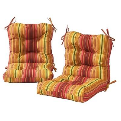 2pk Outdoor Chair Cushion - Kensington Garden