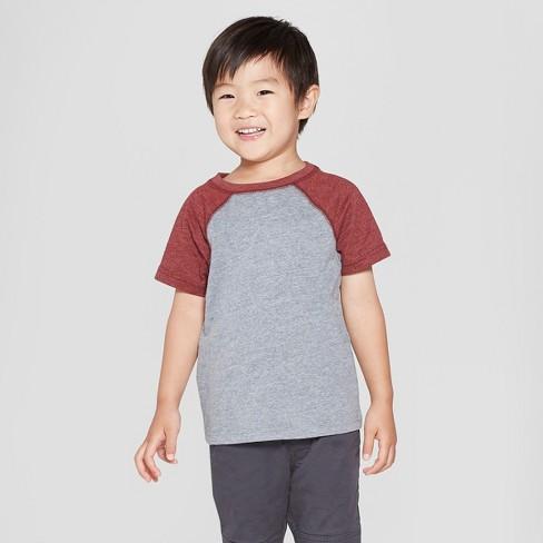 045231d3590 Toddler Boys  Short Sleeve Raglan T-Shirt - Cat   Jack™ Gray Berry ...