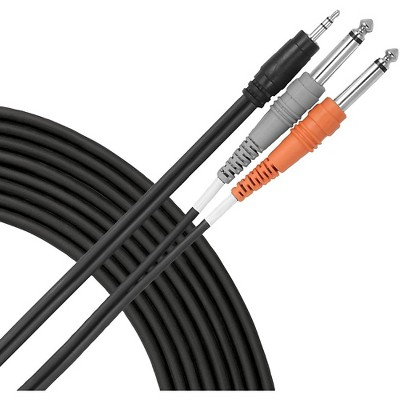 """Livewire Essential Interconnect Y-Cable 3.5 mm TRS Male to 1/4"""" TS Male"""