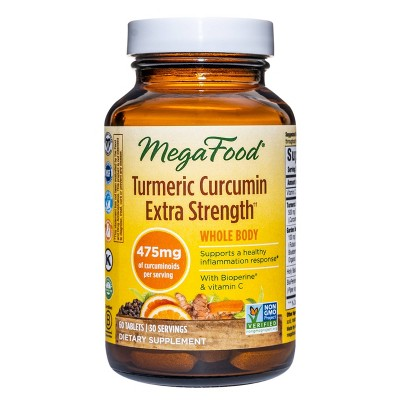 MegaFood Turmeric Strength Whole Body Vegan Tablets - 60ct
