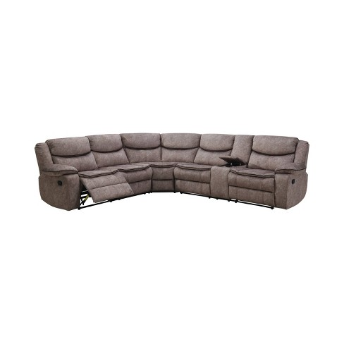 Blaisdell Upholstered Recliners Sectional Gray - HOMES: Inside + Out - image 1 of 2