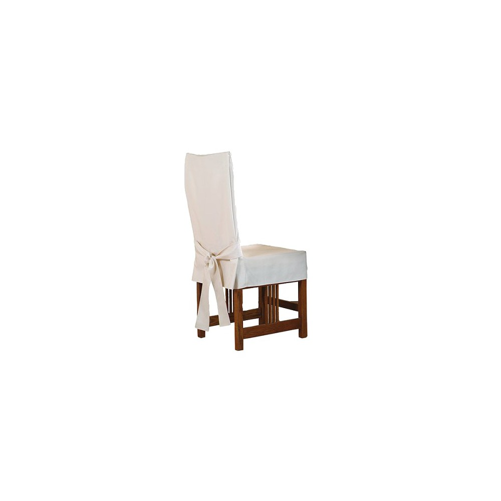 Cotton Duck Short Dining Room Chair Slipcover Natural - Sure Fit