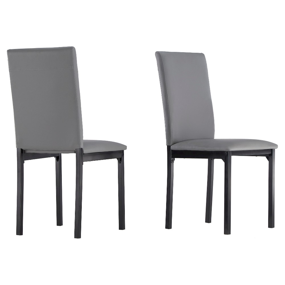 Devoe Dining Chair - Gray (Set of 2) - Inspire Q
