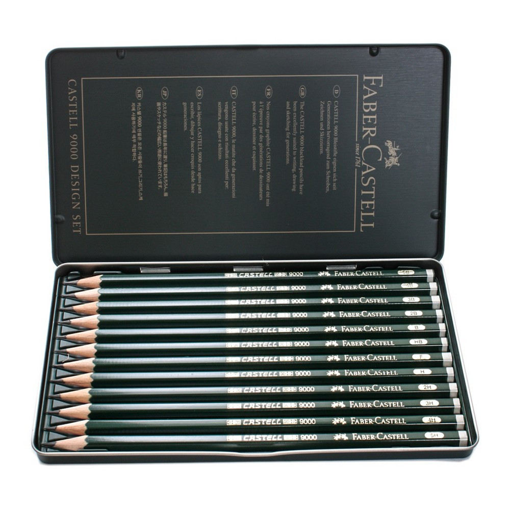 Image of Graphite Sketch Pencil Set 12ct Faber-Castell 9000 -Design 5B - 5H