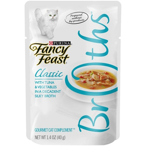Purina Fancy Feast Wet Cat Food Complement Broths Classic With Tuna & Vegetables in a Silky Broth - 14oz Pouch - image 1 of 4