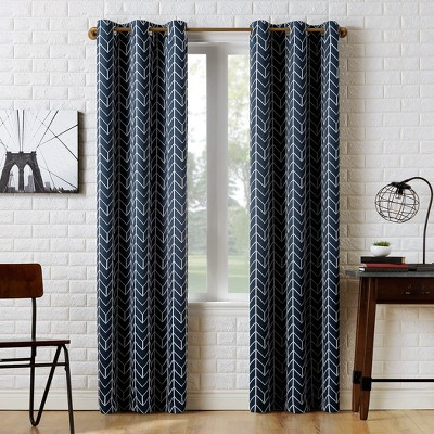 Kenwood Chevron Blackout Grommet Top Curtain Panel - Sun Zero