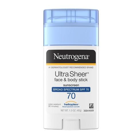 Neutrogena Ultra Sheer Non-Greasy Sunscreen Stick - SPF 70 - 1.5oz - image 1 of 4