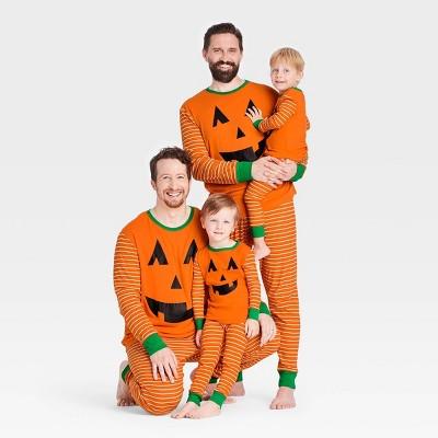 Halloween Pumpkin Matching Family Pajama Collection - Orange