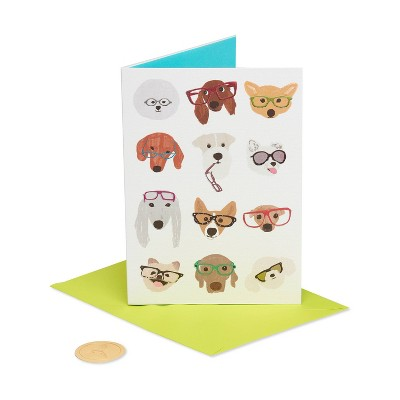 Card Dog with Glasses - PAPYRUS