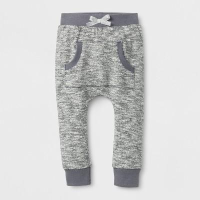 Baby Girls' Kanga Jogger Pants - Cat & Jack™ Black 3-6 M