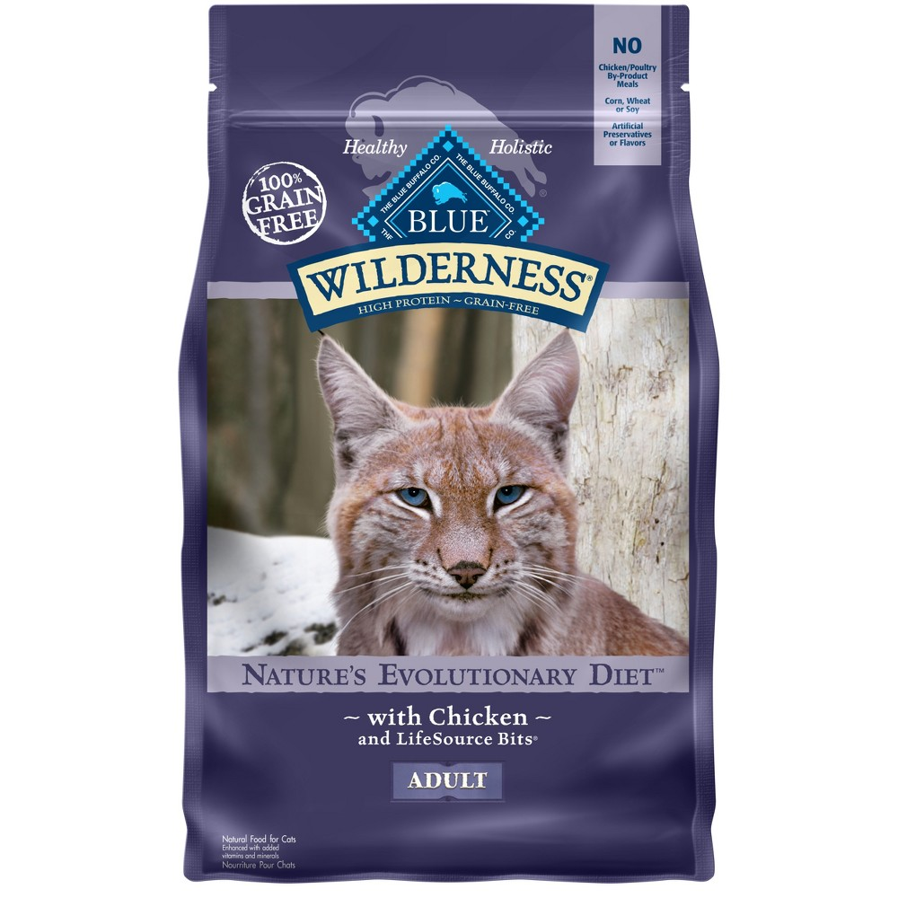Blue Buffalo Wilderness 100% Grain-Free Chicken Adult Dry Cat Food - 2lb