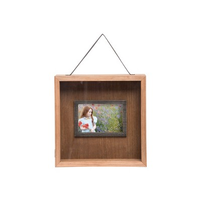 4 x 6 inch Decorative Wood Picture Frame with Shadow Box with Hanging Strap - Foreside Home & Garden