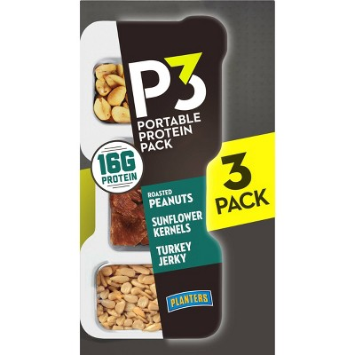 Planters P3 Portable Protein Pack 3ct / 5.4oz