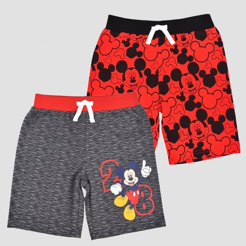 Toddler Boys' Disney Mickey Mouse & Friends Mickey Mouse Shorts Set - Red - image 1 of 1