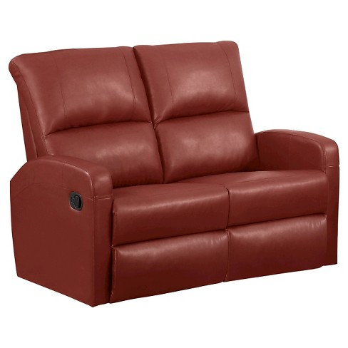 Leather Reclining Loveseat - White - EveryRoom - image 1 of 2