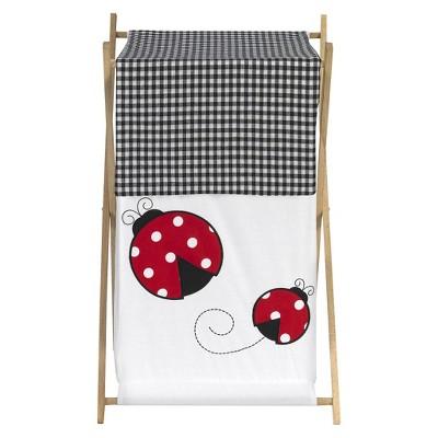 Sweet Jojo Designs Polka Dot Ladybug Laundry Hamper- Red-Black-White