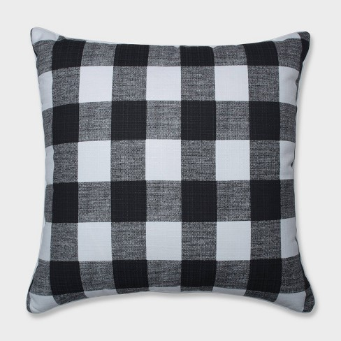 """25"""" Anderson Floor Pillow Black - Pillow Perfect - image 1 of 1"""