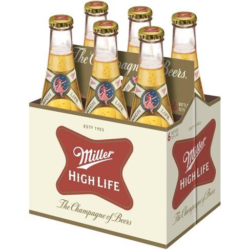 Miller High Life Beer - 6pk/12 fl oz Bottles - image 1 of 1