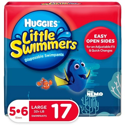 Huggies Little Swimmers Swim Diapers Size 5-6 Large (17ct)