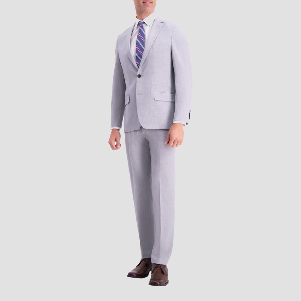 Haggar H26 Men's Slim Fit Premium Stretch Suit Jacket - Light Gray 36 Regular