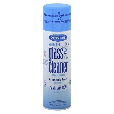 Sprayway Glass Cleaner Ammonia Free Aerosol - 19oz