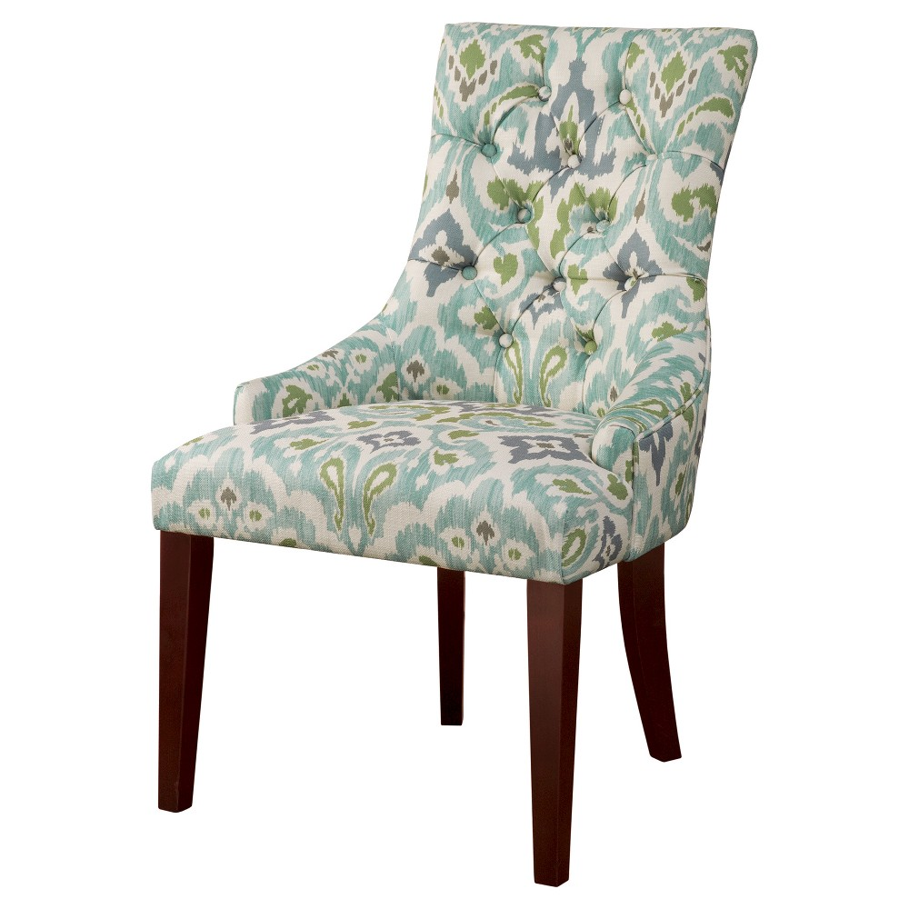 Finn Tufted Back Dining Chair - Blue/Green (Set of 2)