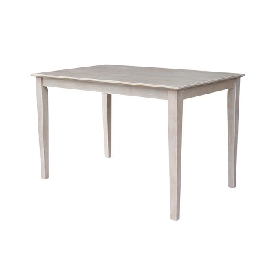 """Solid Wood 30""""X 48"""" Dining Table Weathered Gray - International Concepts"""