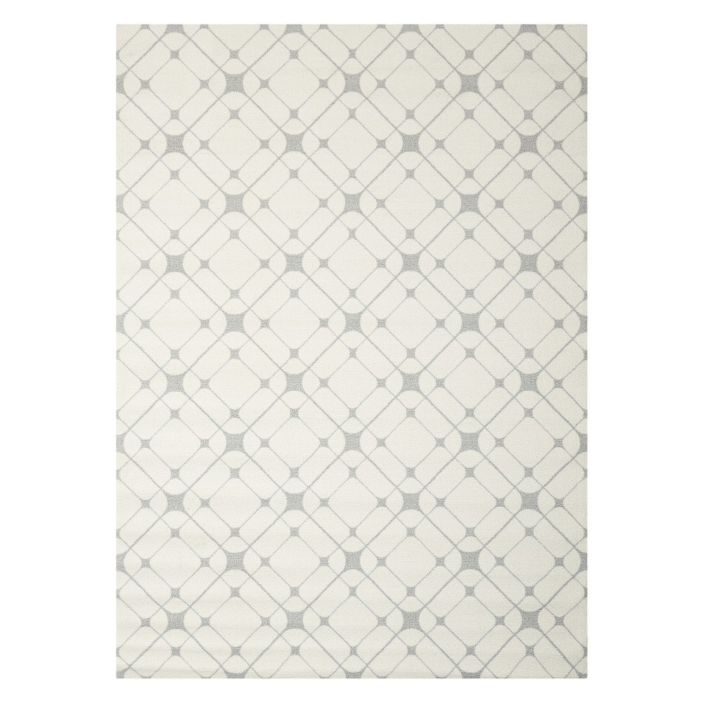 Nourison Graphic Enhance Area Rug - Ivory/Gray (5'X7')
