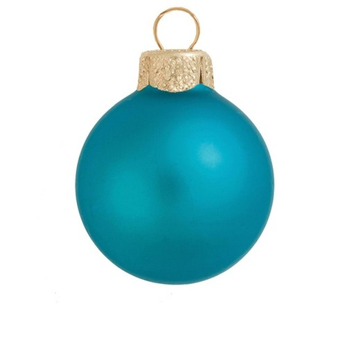 """Northlight 40ct Matte Glass Ball Christmas Ornament Set 1.25"""" - Turquoise Blue - image 1 of 1"""