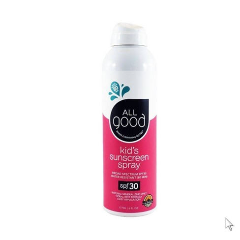 All Good Kids Sunscreen Spray Water Resistant - SPF 30 - 6oz - image 1 of 4