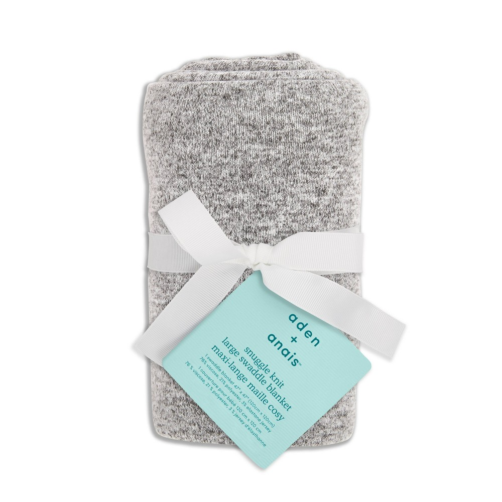 Image of aden + Anais Essentials Snuggle Kit Swaddle Blanket - Heather Gray