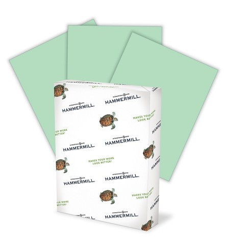 "Hammermill Colors Multipurpose Paper 20 lbs 11"" x 17"" Green 500/Ream (102186) 423478 - image 1 of 2"