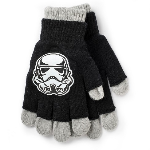 Kids' Star Wars Double Layer Gloves Gray/Black One Size - image 1 of 1