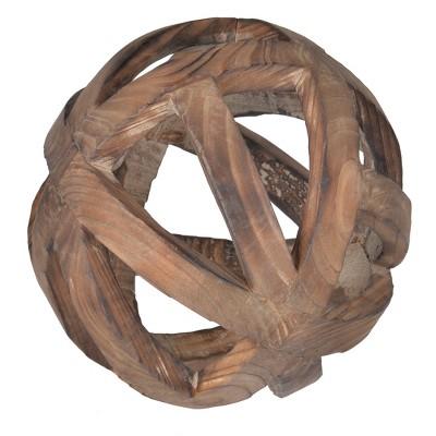 Decorative Wood Ball (8 )- A&B Home