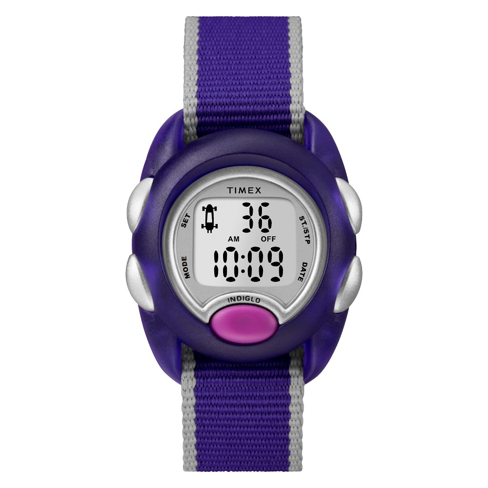 Image of Kid's Timex Digital Watch With Nylon Strap - Purple TW2R99100XY, Women's, Size: Small