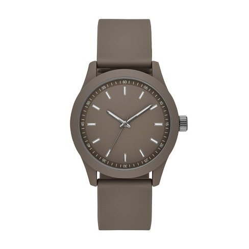 Men's Rubber Strap Watch - Goodfellow & Co™ Gray - image 1 of 1