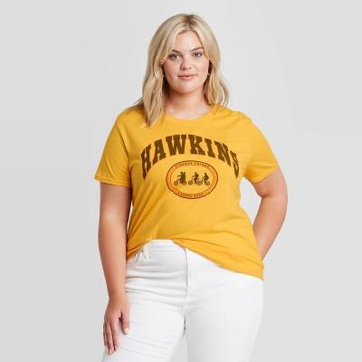 Women's Stranger Things Hawkins Short Sleeve Graphic T-Shirt - Yellow