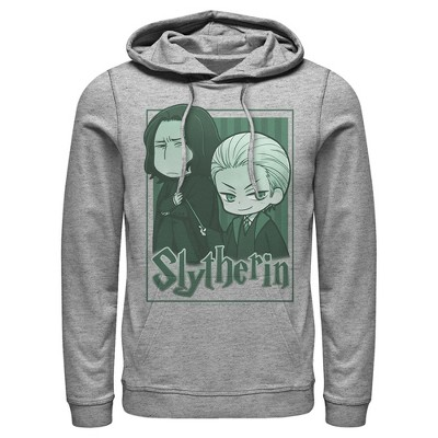 Men's Harry Potter Slytherin Cartoon Characters Pull Over Hoodie