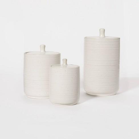 Stoneware Kitchen Storage Canister - Threshold™ designed with Studio McGee - image 1 of 4