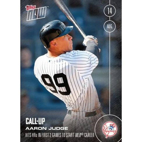Topps Now Ny Yankees Aaron Judge Call Up Mlb Card 356 Trading Card