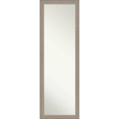 "17"" x 51"" Curve Wood Framed Full Length On the Door Mirror Graywash - Amanti Art"