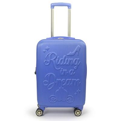 "FUL Disney Princess Cinderella 21"" Carry On Hardside Spinner Suitcase - Blue"