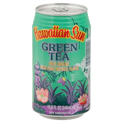 Hawaiian Sun Green Tea with Ginseng - 6pk/11.5 fl oz Cans