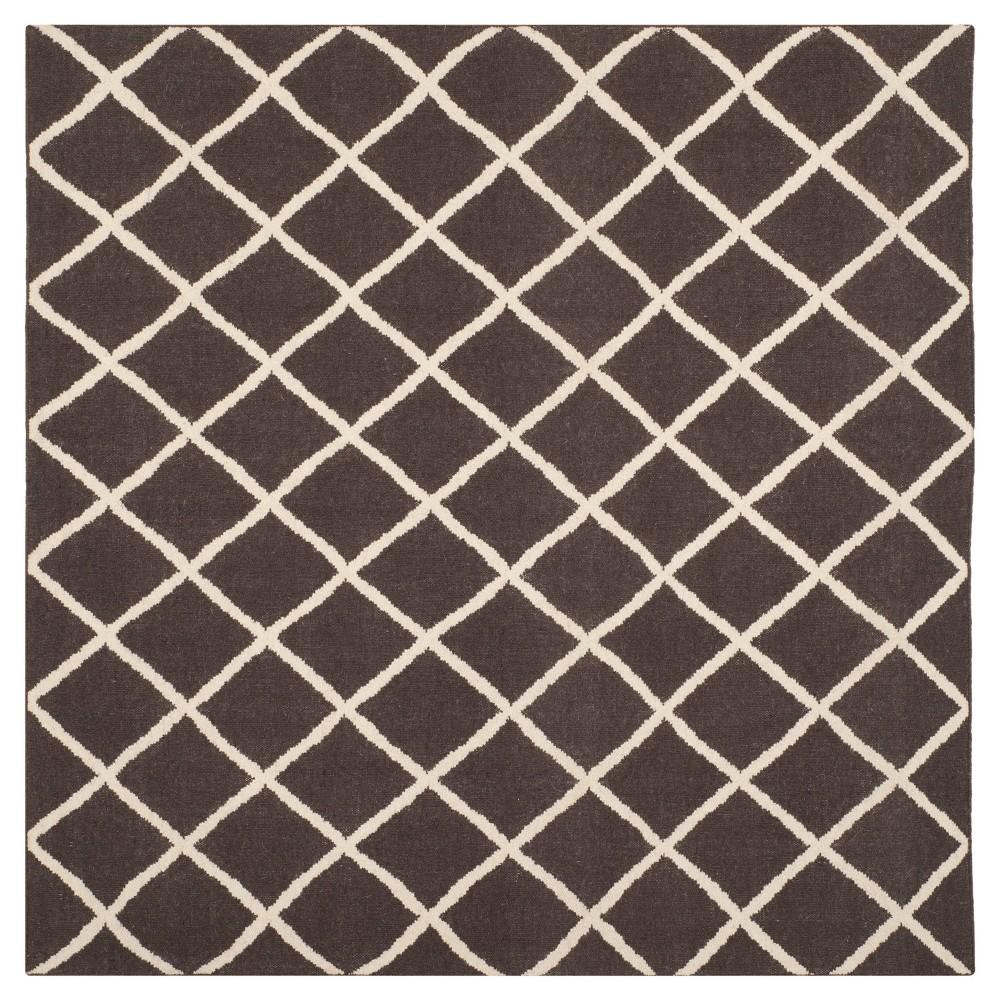Brant Flatweave Area Rug - Brown/Ivory (6' Square) - Safavieh